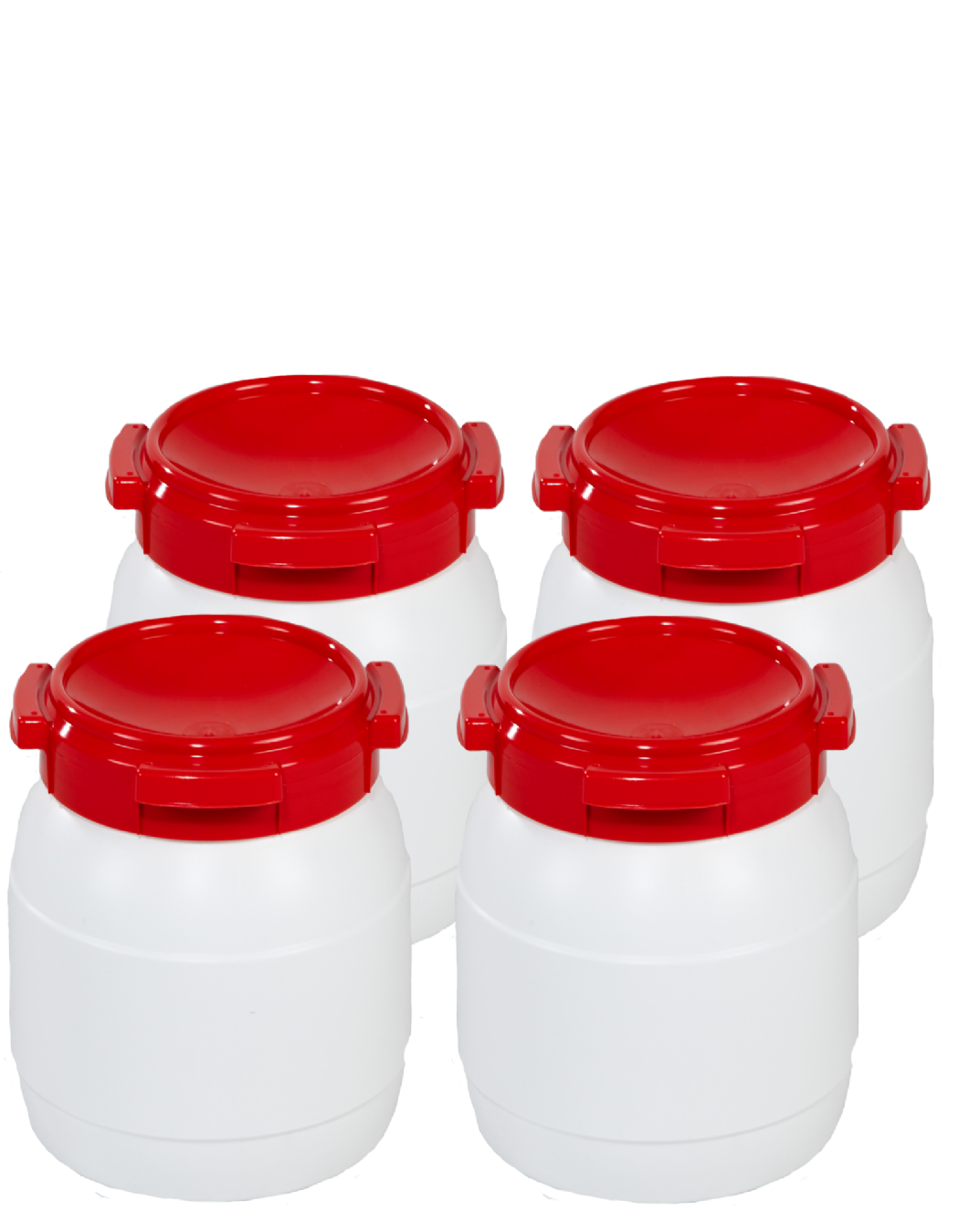 15 Litre Wide Neck Plastic Drum - Pack of 4 Drums